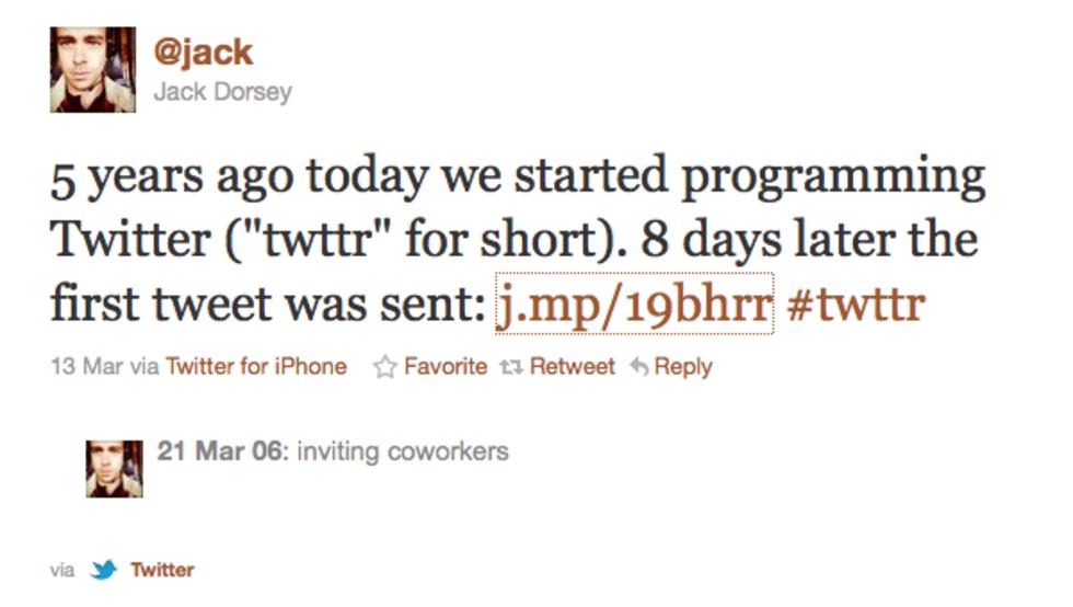 Tut i luren - 5 år sedan första tweeten!