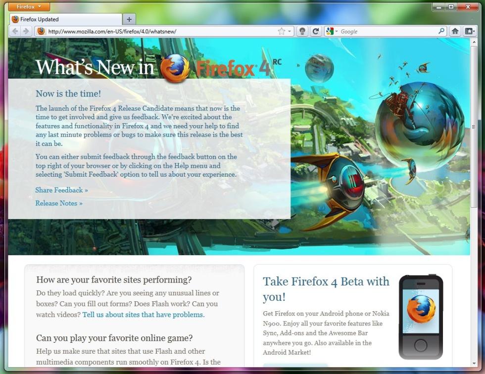Firefox 4 ska lanseras om en vecka