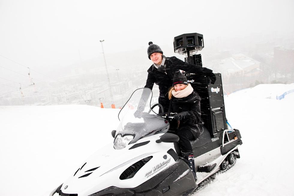 Google Streetview fotar svenska skidbackar