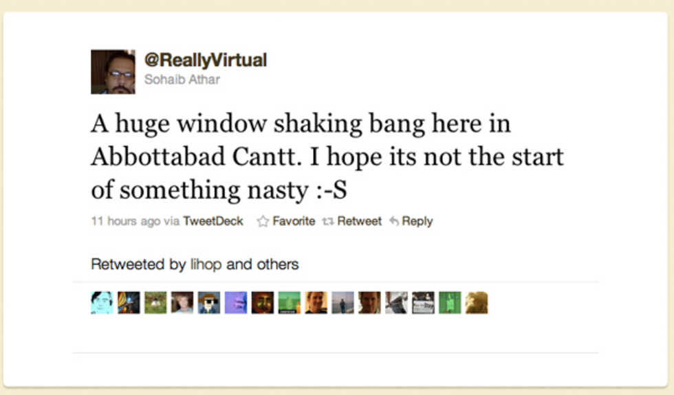 Killen som twittrade om attacken mot Bin Laden utan att veta om det