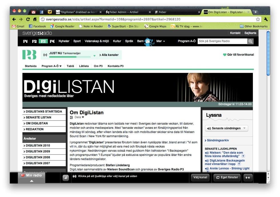 P3:s Digilistan får ej tillgång till iTunes-statistik längre