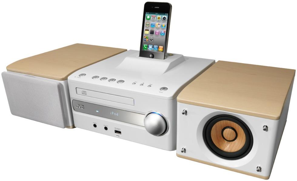 Nytt kompaktsystem från JVC med iPhone-docka