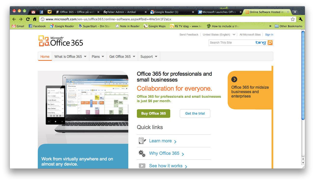 Office 365 släpps officiellt idag