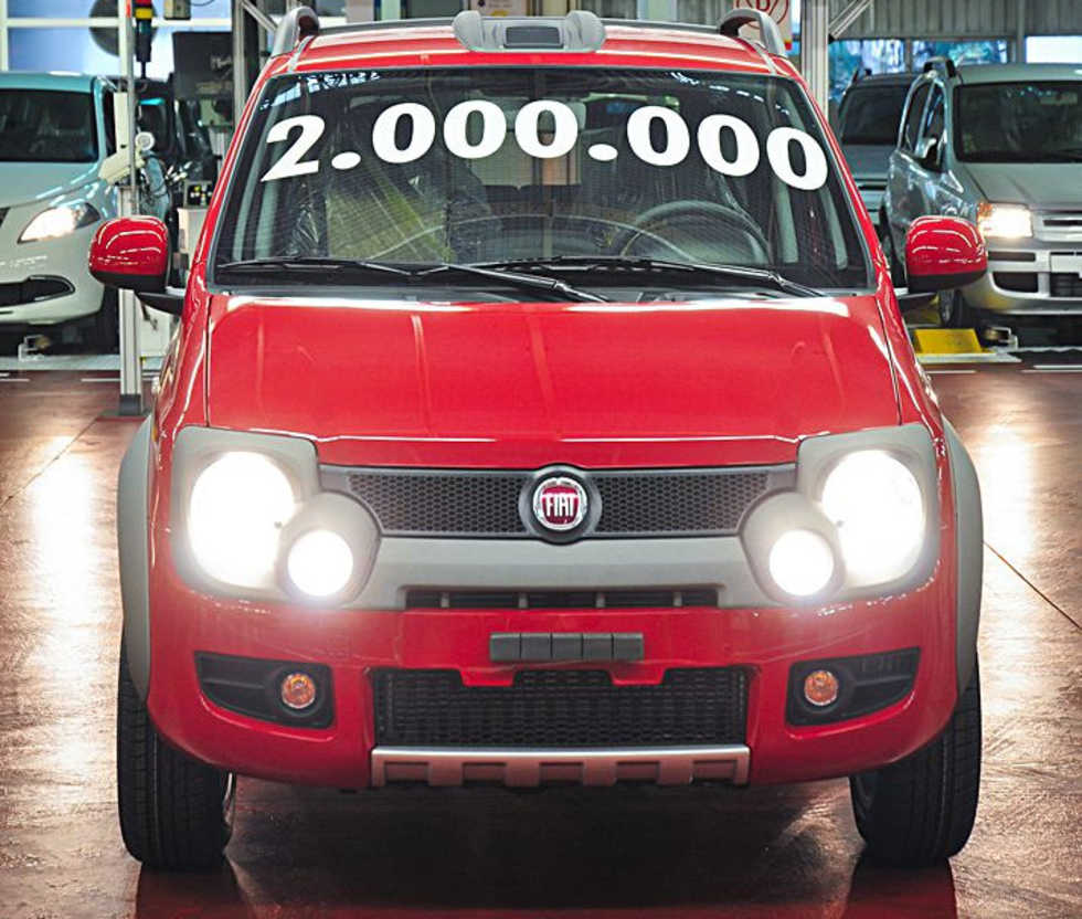 Fiat har byggt 2 miljoner exemplar av andra generationen Panda