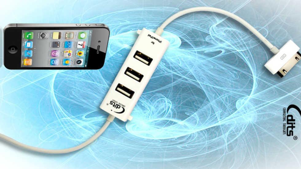 iPhone-sladd som även fungerar som USB-docka