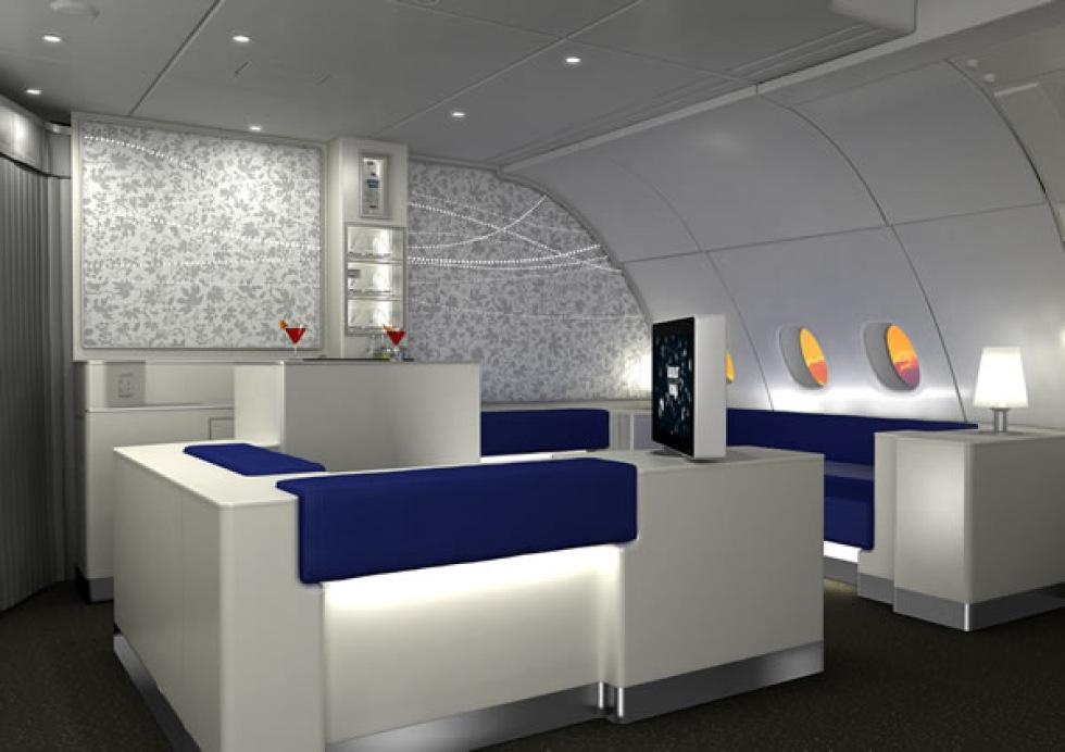 Korean Air bygger lounge-barer i flygplan