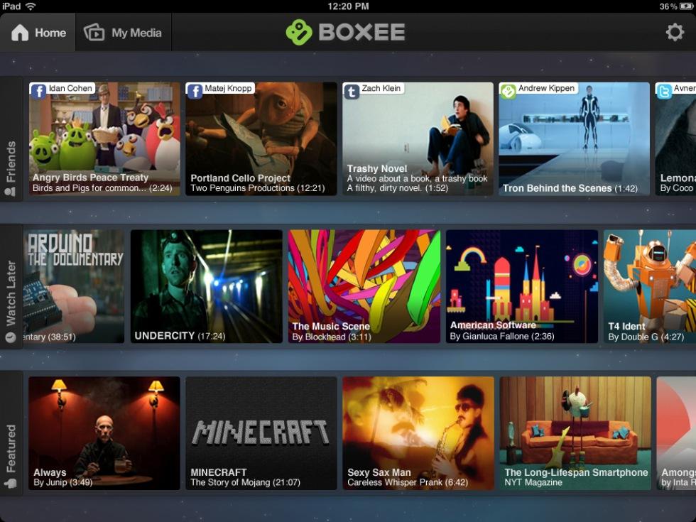 Boxee släpper app till iPad