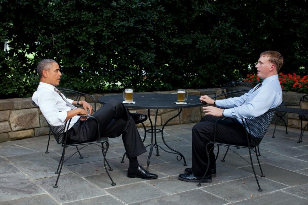 Obama brygger egen öl