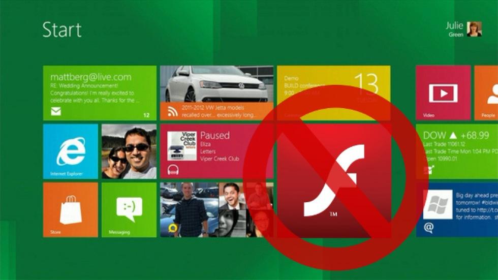 Adobe säger att Flash funkar i Windows 8