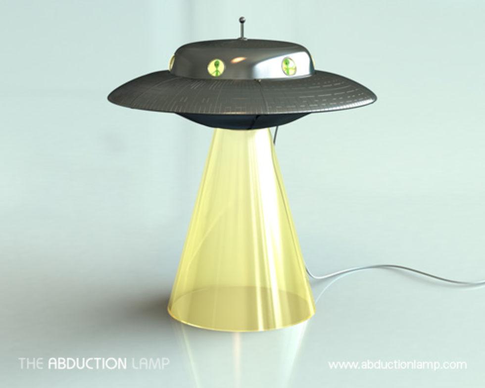 The Abduction Lamp. När du känner dig lite X File | Feber Pryl