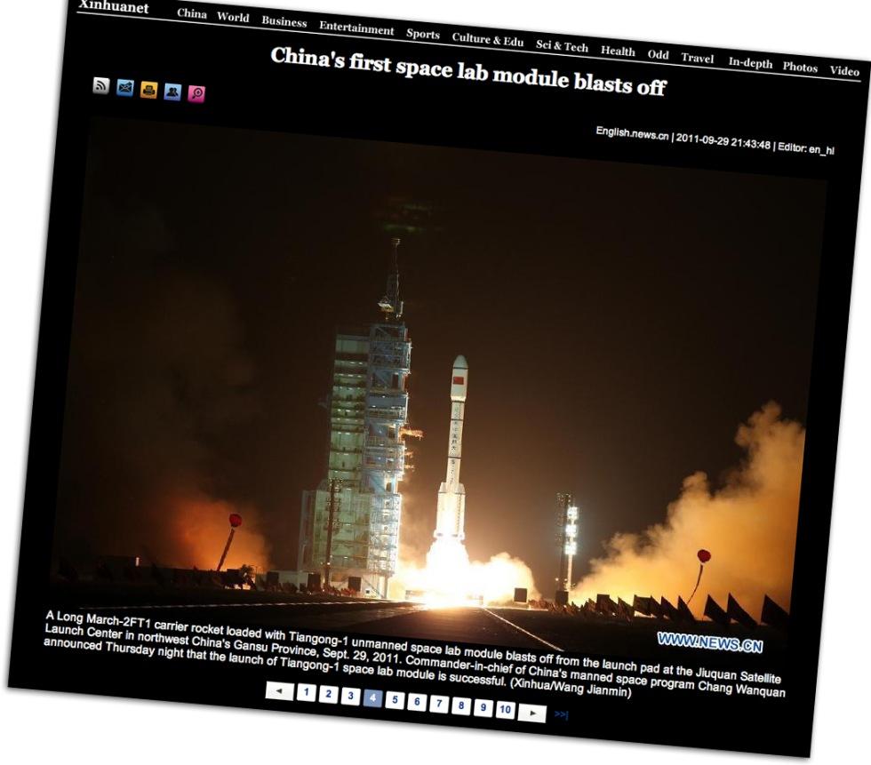 Kina skickar upp en rymdstation