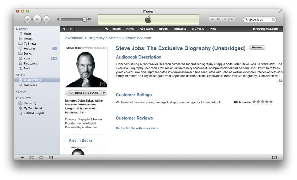 Nu kan du ladda ner boken om Steve Jobs