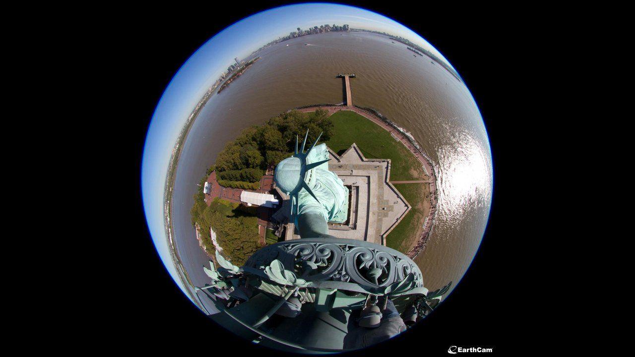 Frihetsgudinnan får panorama-kameror i 125-årspresent