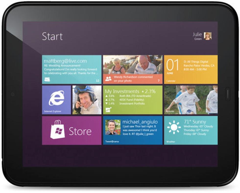 HP experimenterar med Windows 8 och TouchPad