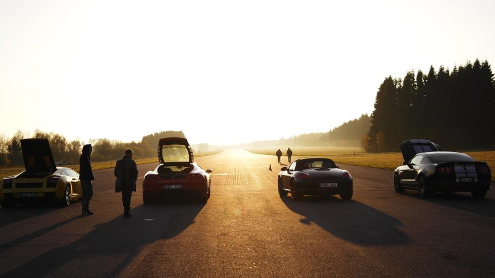 En heldag med snabba bilar