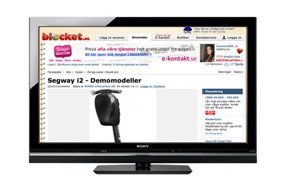 Blocket goes reality-TV