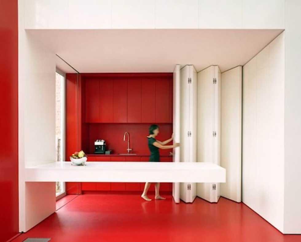 Göm köket bakom skjutdörrar