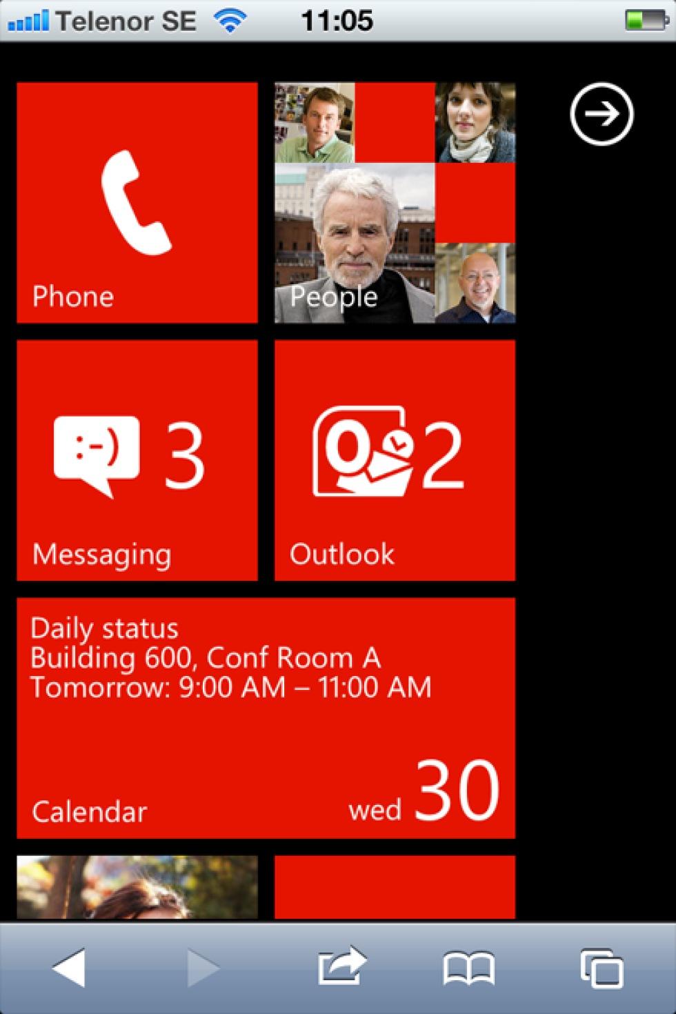 Testa Windows Phone 7 på din iPhone eller Android