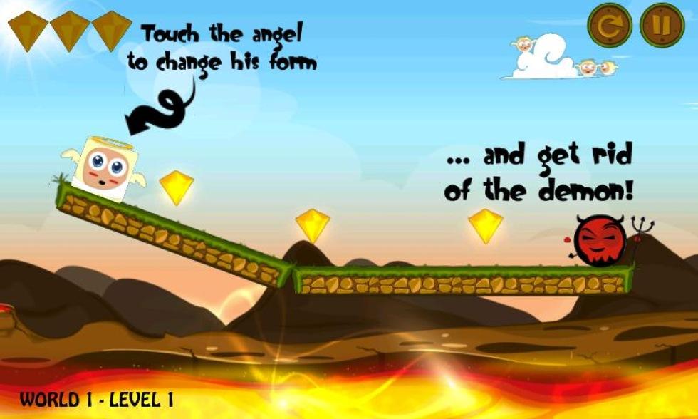 Flytta änglar och demoner i HeavenHell