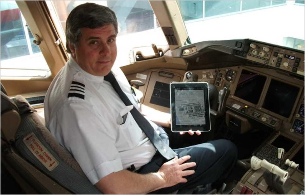 American Airlines börjar med iPad i cockpit