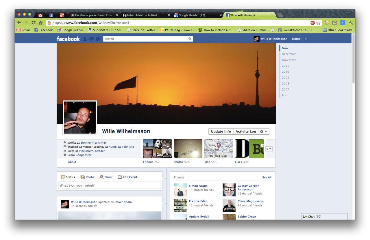 Facebook aktiverar Timeline för alla