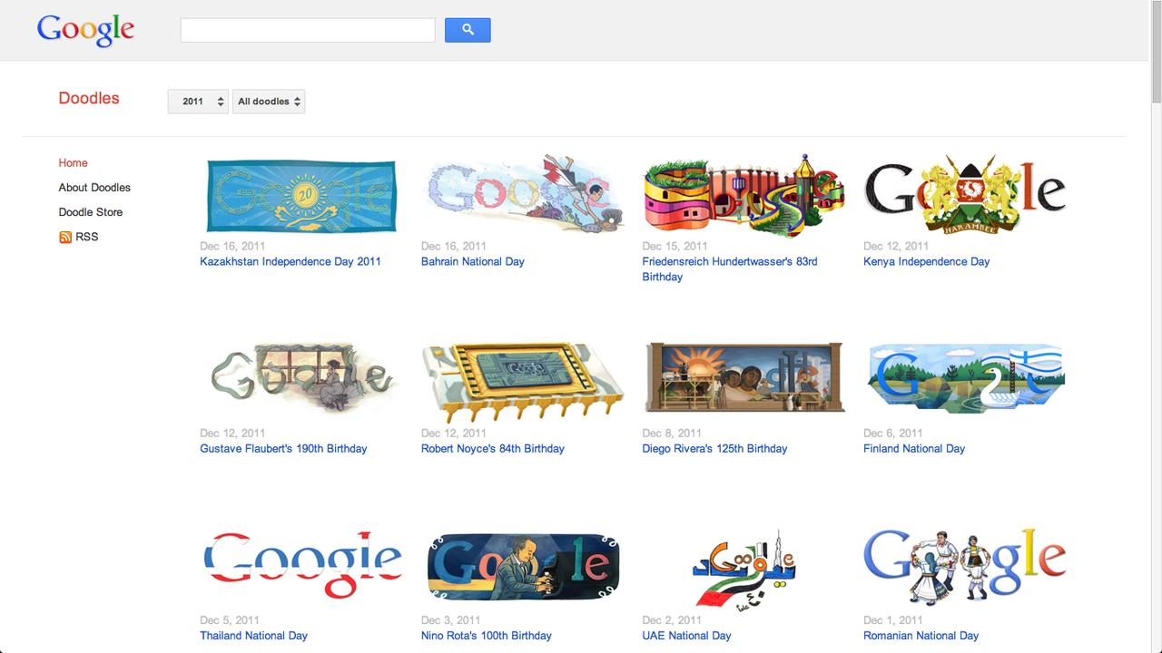 Google visar upp sina Doodles