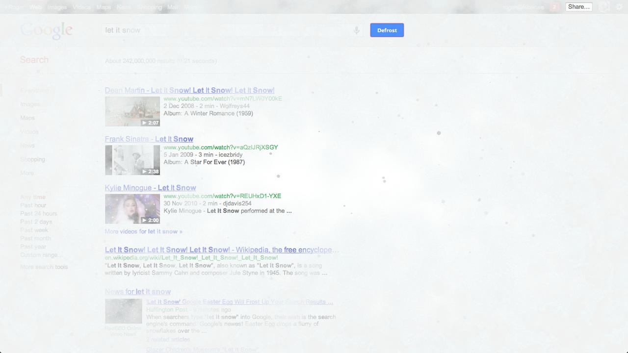 Låt det snöa hos Google