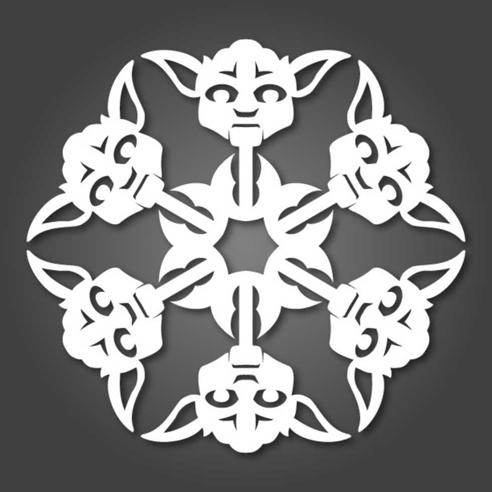 Pynta granen med Star Wars-snöflingor