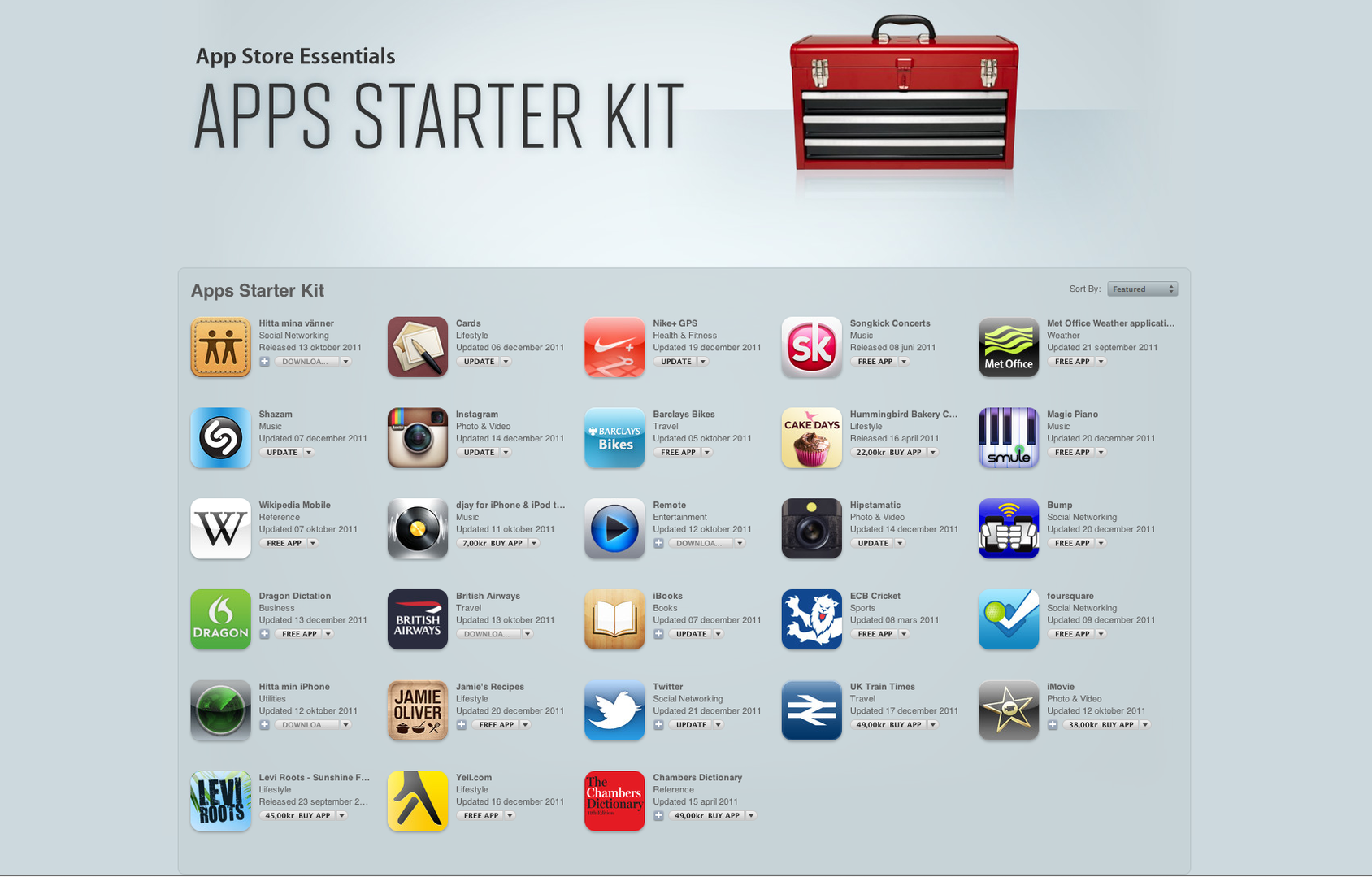 App Starter Kit från Apple