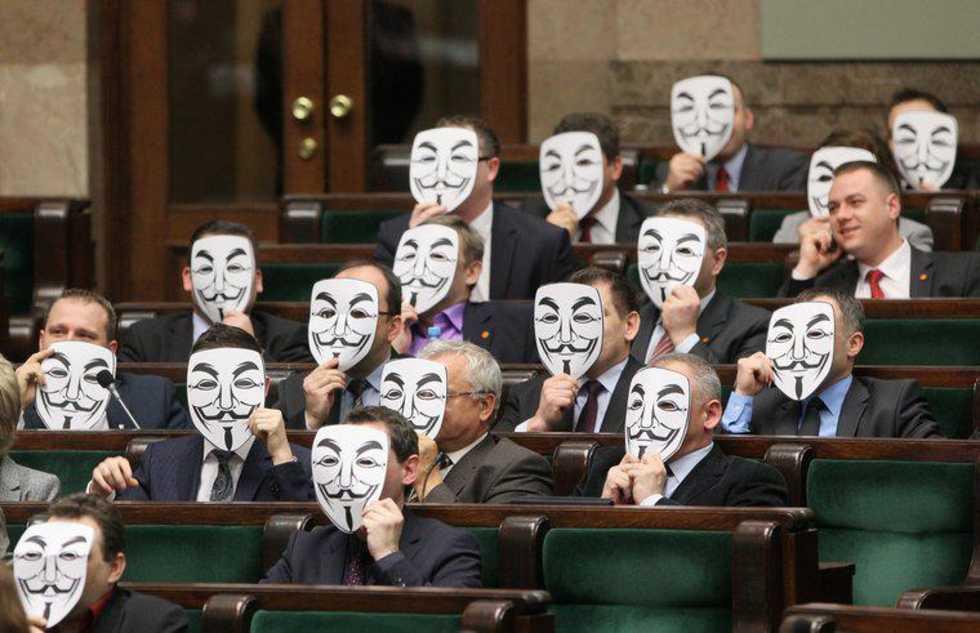 Polska protester mot ACTA-avtalet