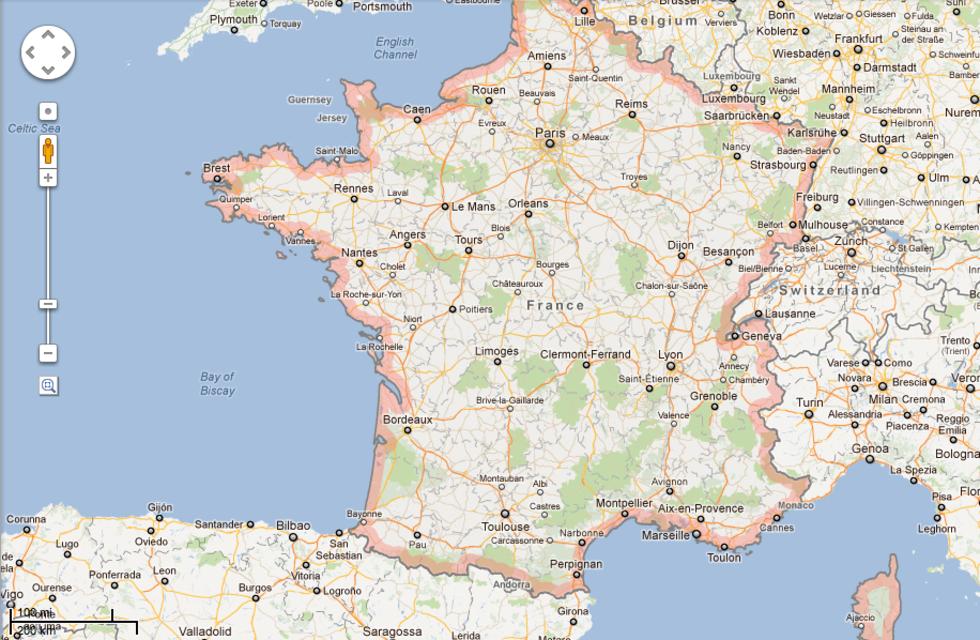 flygplatser i frankrike karta Google Maps bötfällda i Frankrike för att deras kartor är gratis  flygplatser i frankrike karta