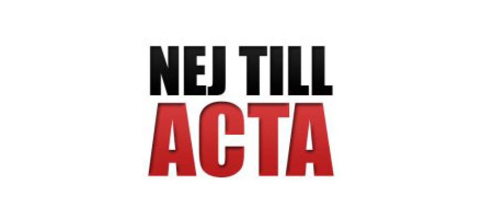 ACTA-demonstrationer i Sverige idag