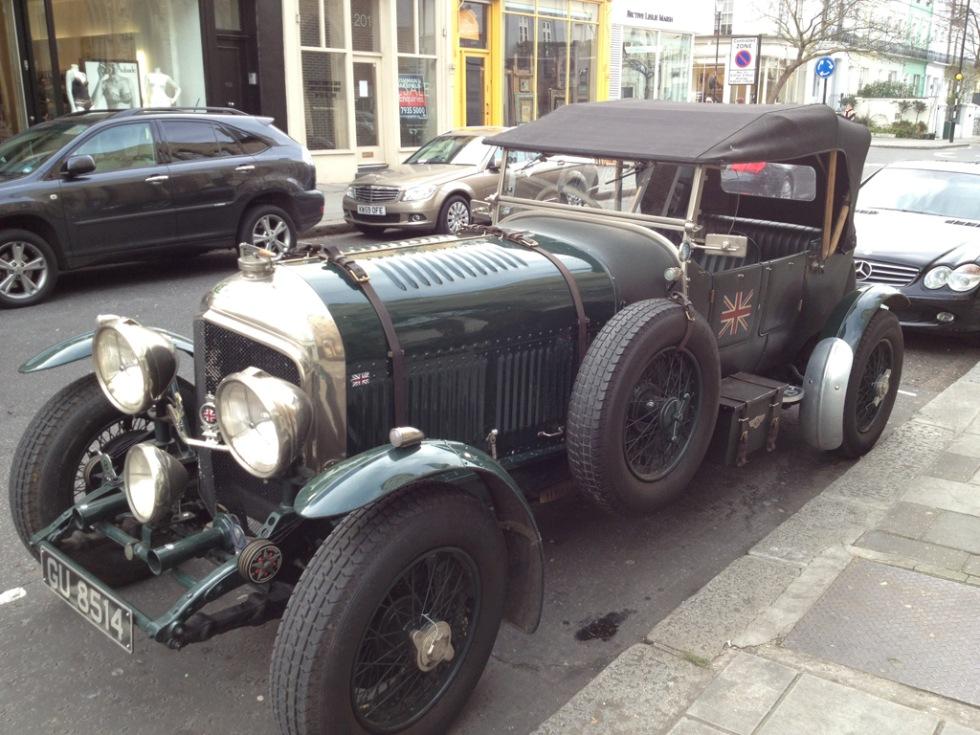 En klassisk Bentley i London