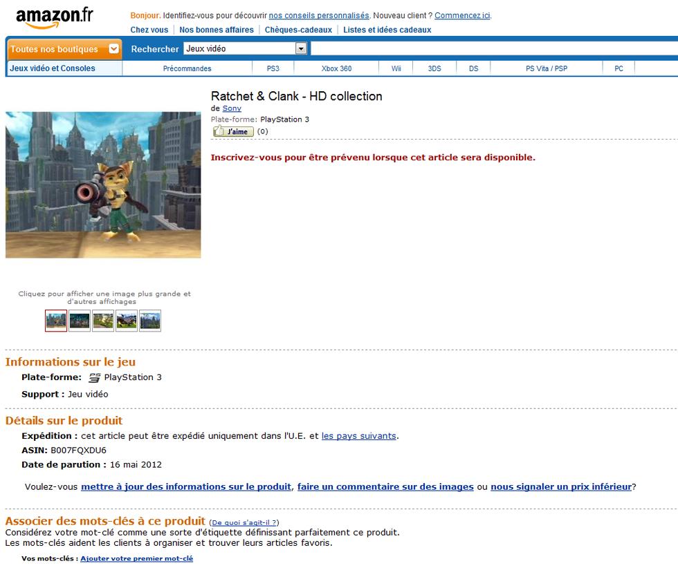 HD-samling för Ratchet & Clank på gång?