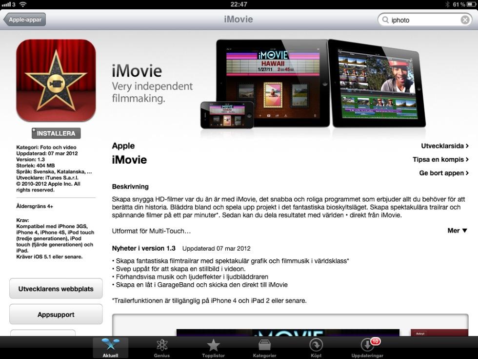 Nu finns uppdaterat iWorks, GarageBand och iMovie