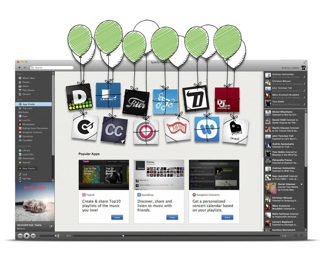 Spotify lanserar nya appar