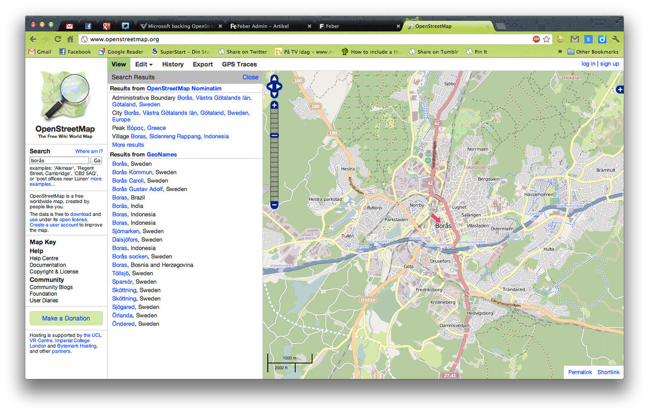 Microsoft stödjer OpenStreetMap