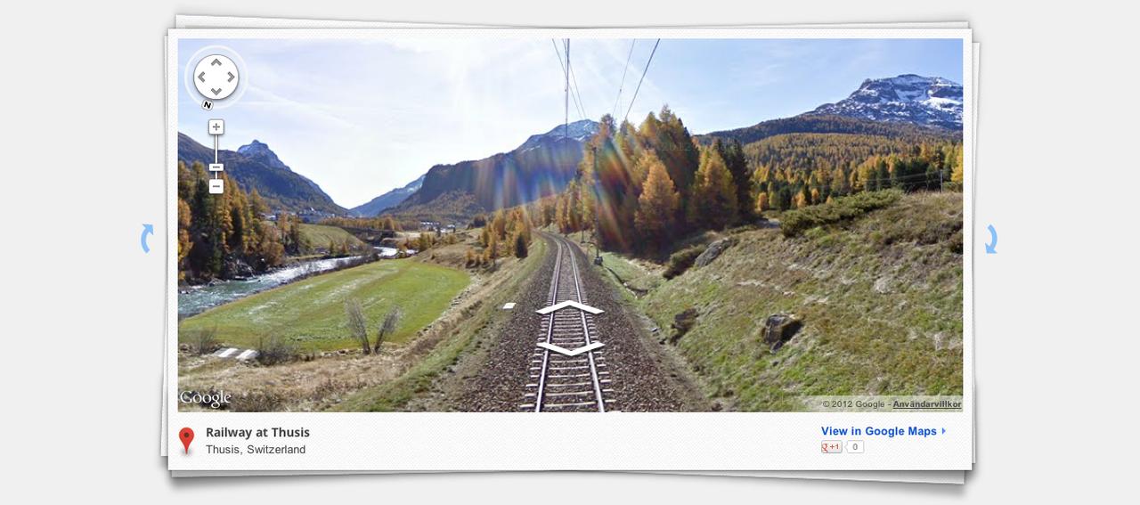 Ta tåget genom Alperna med Google Street View