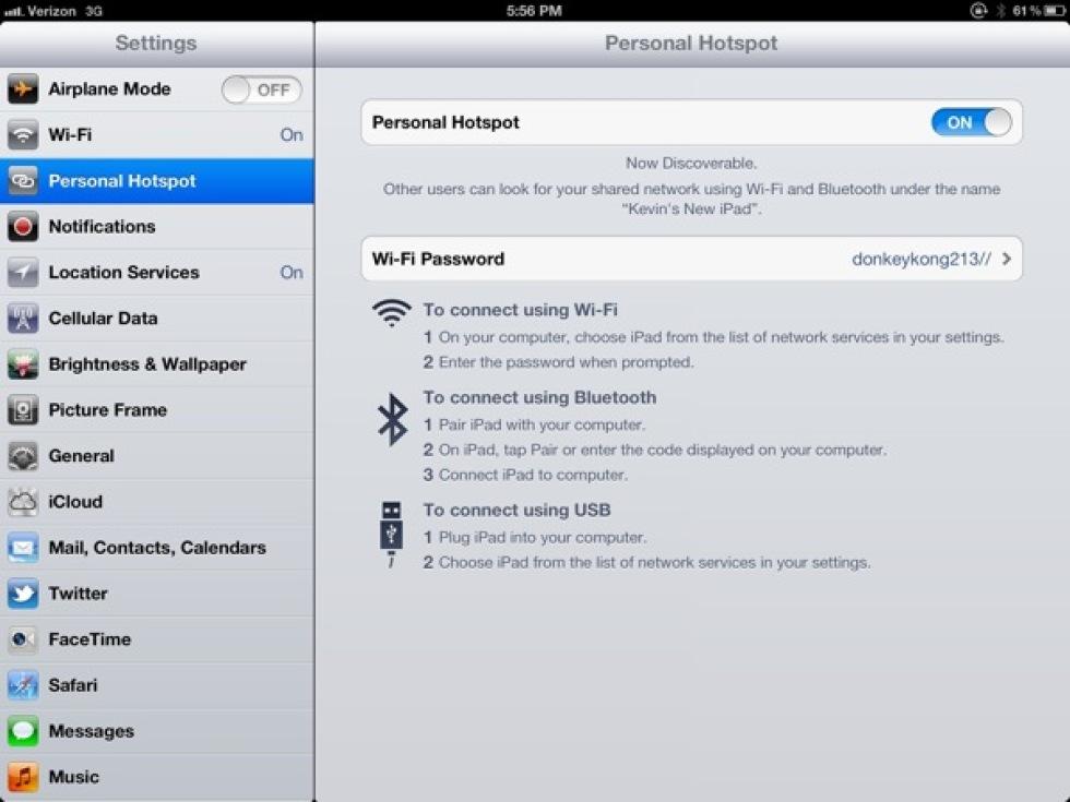 Snart kan du använda din nya iPad som en hotspot