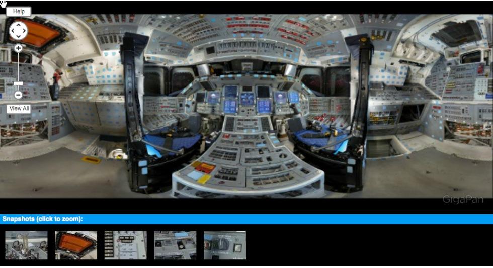 Panoramabilder inifrån Discovery