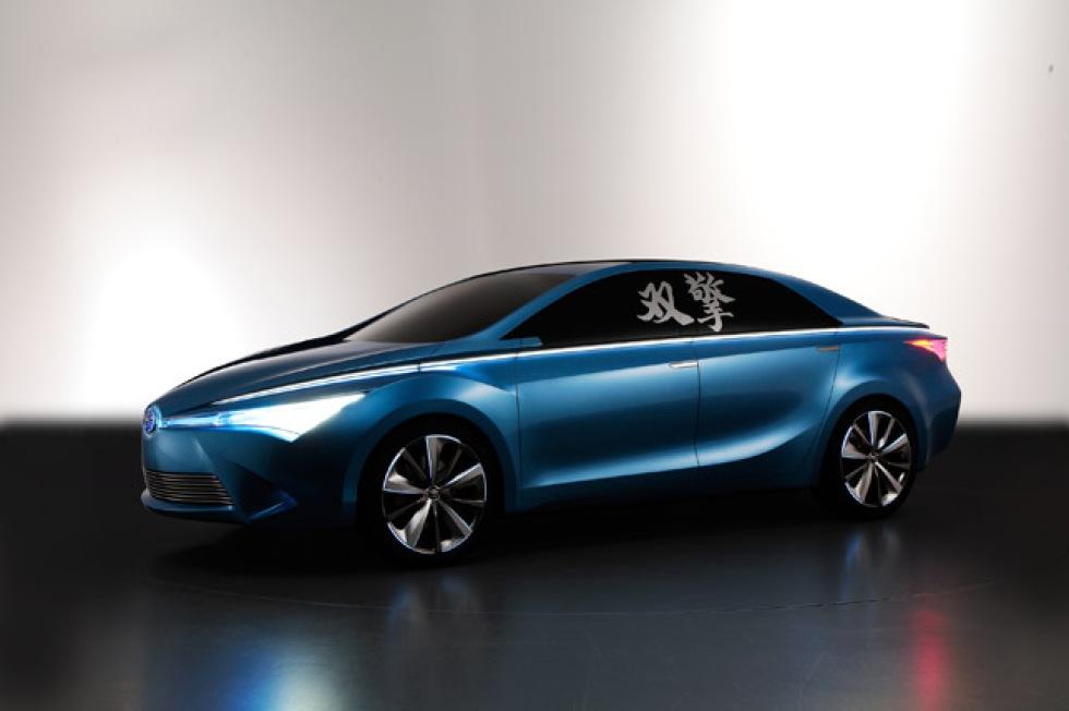 Tre nya konceptbilar från Toyota visade i Peking