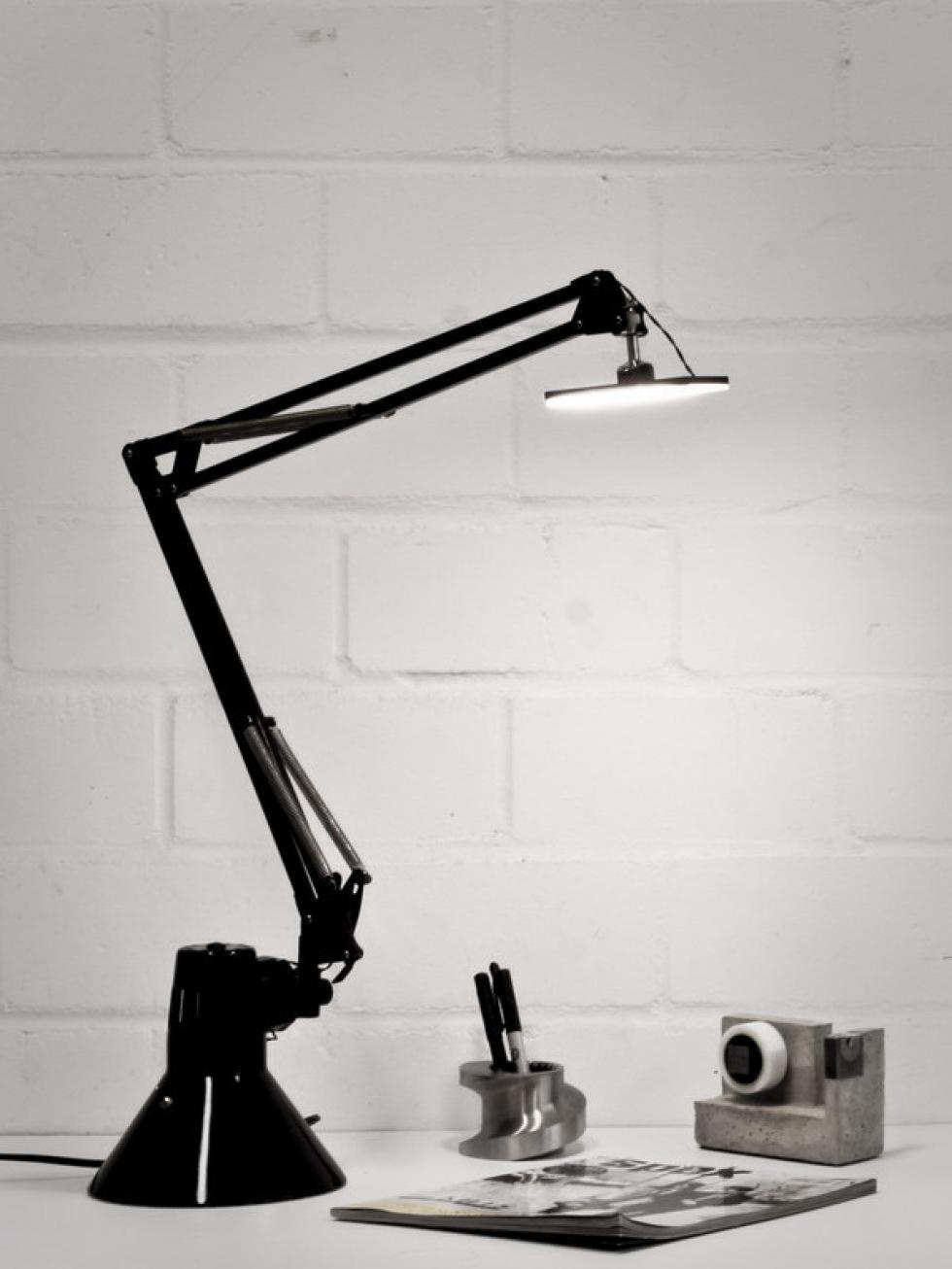 Uppochner-påvänd lampa