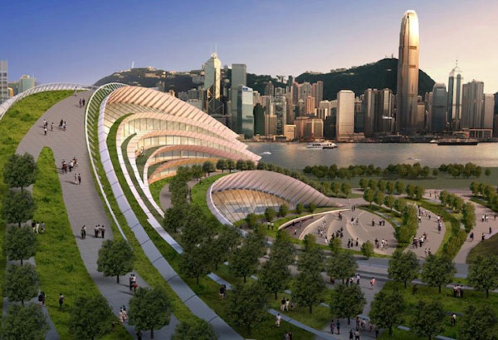 Hong Kong får världens största tågstation