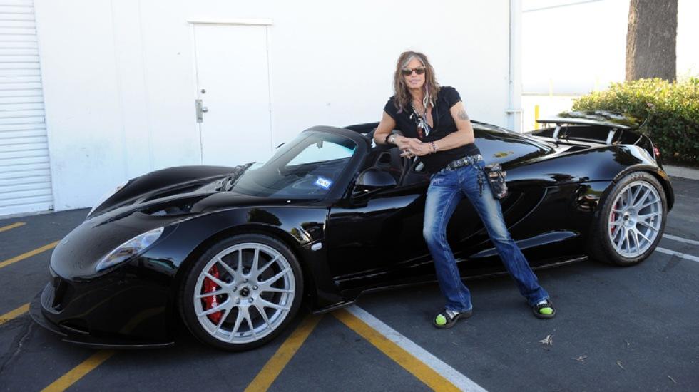 Steven Tyler har nu fått sin Venom GT Spyder