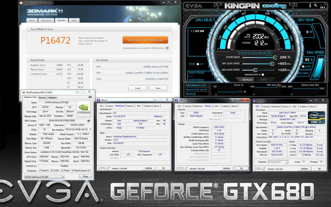 k|ngp|n slår rekord med EVGAs GeForce GTX 680 4GB