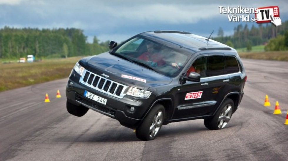 Nya Jeep Grand Cherokee kan köras på två hjul
