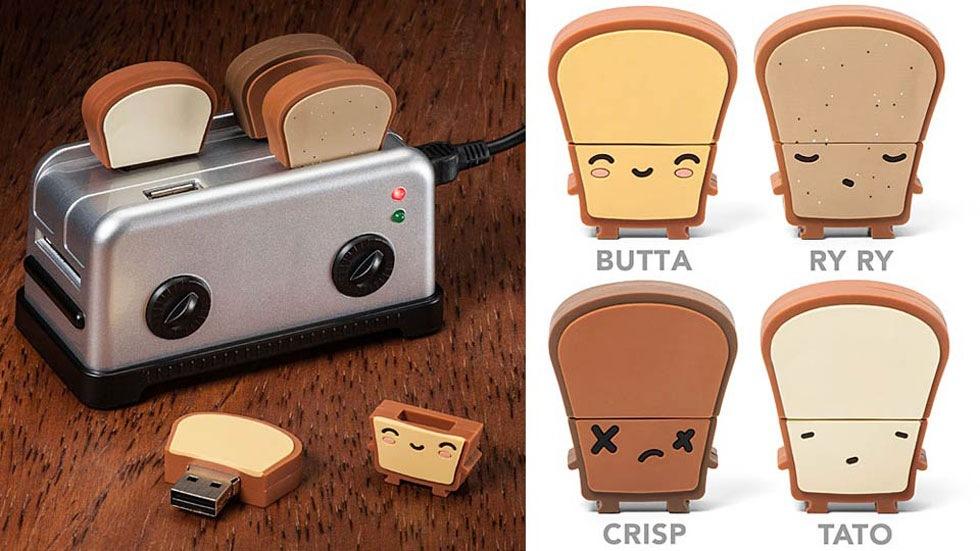 USB-hub som ser ut som en brödrost