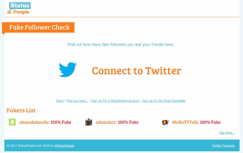 Kolla upp hur många av dina Twitter-följare som är fejk