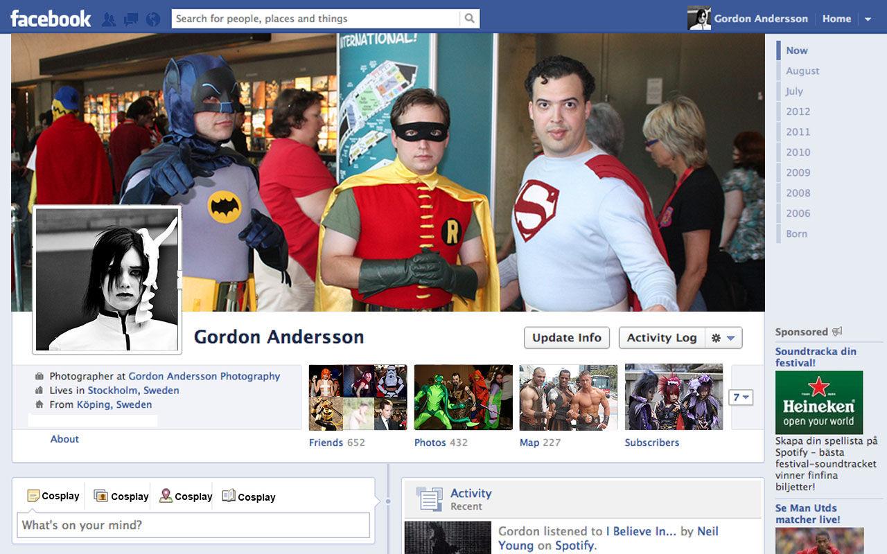 Facebook hatar cosplayare