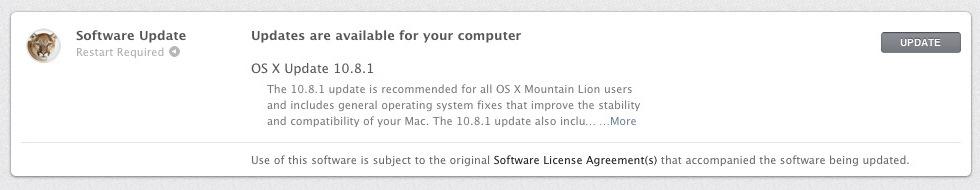 Uppdatering till Mountain Lion ute nu